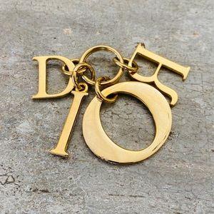 ♥️ Dior ♥️ Gold Letter Pendant Keychain
